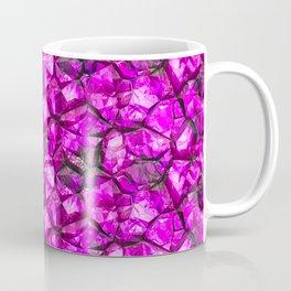 Pink crystal gem wall Coffee Mug