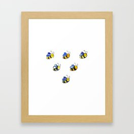 Cute little watercolor bees by annmariescreations Framed Art Print