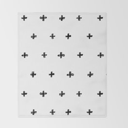 Crosses Throw Blanket