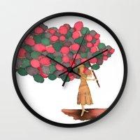 ballon Wall Clocks featuring Ballon Girl by Kwelts1