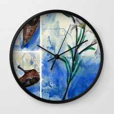 Flowers and shoe  Wall Clock