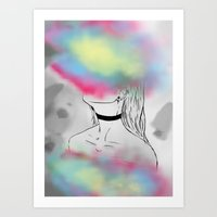 Destroy Yourself To See Who Cares Art Print