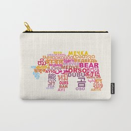 Bear in Different Languages Carry-All Pouch