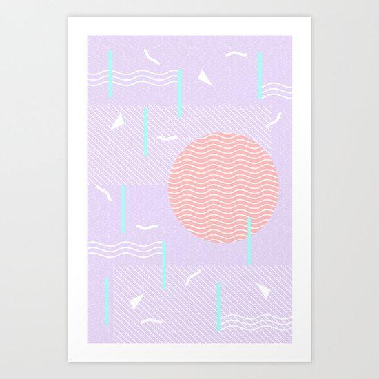 Memphis Summer Lavender Waves by silverpegasus