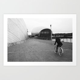 cycling around the science centre Art Print