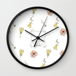 Remember good times Wall Clock