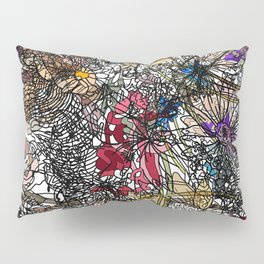 Floral Abstract Retro Inspired Pillow Sham