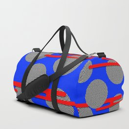 Red Clouds with Halftone Circles Duffle Bag