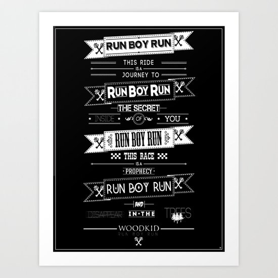 Run Boy Run Poster Art Print