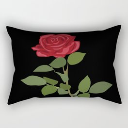 Simple red rose Rectangular Pillow