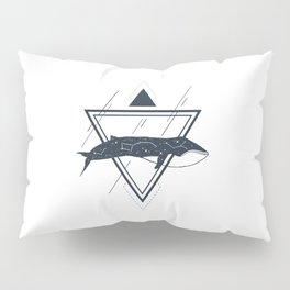 Cosmic Whale. Geometric Style Pillow Sham
