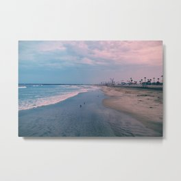 Rainy Day at the Beach Metal Print