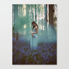 Girl in forest 2 Canvas Print