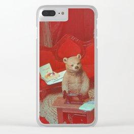 Jack in the bear fur, hinterland hues, scene 3 Clear iPhone Case