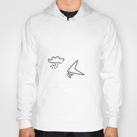 aviation Hoodies featuring hang-glider aviation by Lineamentum