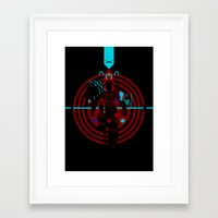 tron Framed Art Prints featuring Tron by Florey