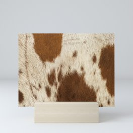 Pattern of a Longhorn bull cowhide. Mini Art Print