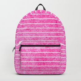 small Pink straight lines Backpack