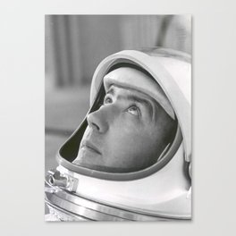 Astronaut James A. McDivitt Suited in Preparation for Space Launch Canvas Print