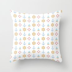 The Essential Patterns of Childhood - Sailing Throw Pillow