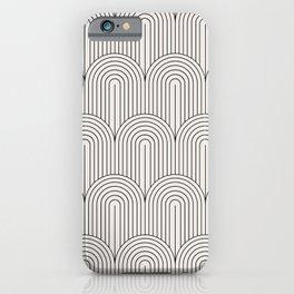 Art Deco Arch Pattern IX - Black & White II iPhone Case