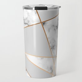 Copper smokey marble geo Travel Mug
