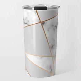 Copper smokey marble geo Travel Mug