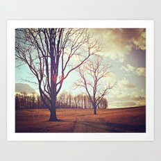Warmth of Winter  Art Print