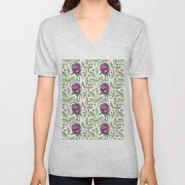 default texture background floral Unisex V-Neck