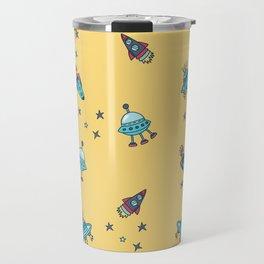 Boys Galaxy Rocket Space Travel Mug