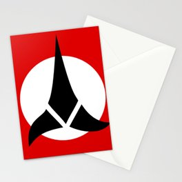 Qapla National Symbol Flag Stationery Cards