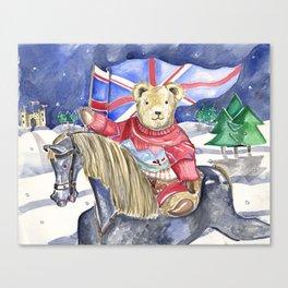 British Riding Teddy Canvas Print