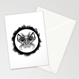 Half Hairy Angry Monkey Stationery Cards