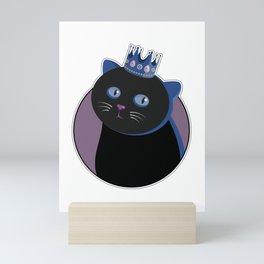 His Black Sweet Cat Majesty / bonus Mini Art Print
