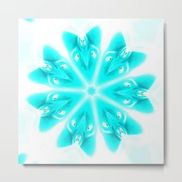 Faded Snowflake Mandala Metal Print