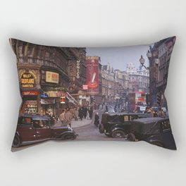 Piccadilly London Kodachrome Rectangular Pillow