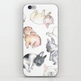 Sleepy French Bulldog Puppies iPhone Skin