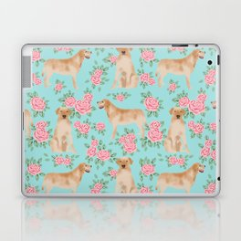 Yellow Labrador Retriever dog breed pet portraits floral dog pattern gifts for dog lover Laptop & iPad Skin