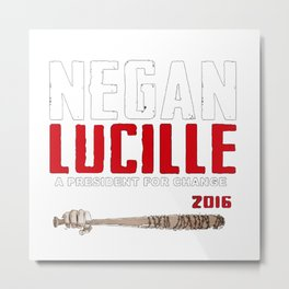 Negan Lucille Metal Print