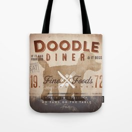 Doodle Diner Dog Kitchen artwork by Stephen Fowler Tote Bag