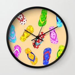 Flip Flops Pattern Wall Clock