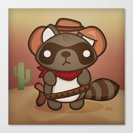 Alex the Prankish Raccoon Canvas Print