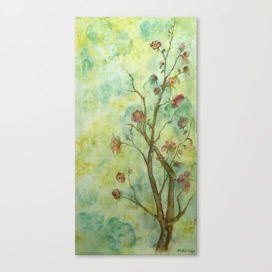 Branch with flowers Canvas Print
