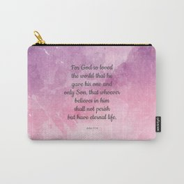 John 3:16, For God So Loved the World Scripture Carry-All Pouch