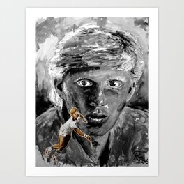The young BORIS BECKER Art Print