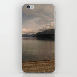 lake wanaka silent capture at sunset in new zealand iPhone Skin