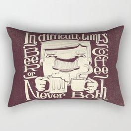Beer or Coffee Rectangular Pillow
