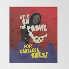 Careless Owls Throw Blanket