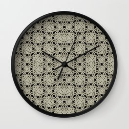 Interlace Arabesque Pattern Wall Clock