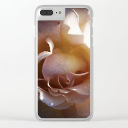 Expectant Apricot Rose Clear iPhone Case
